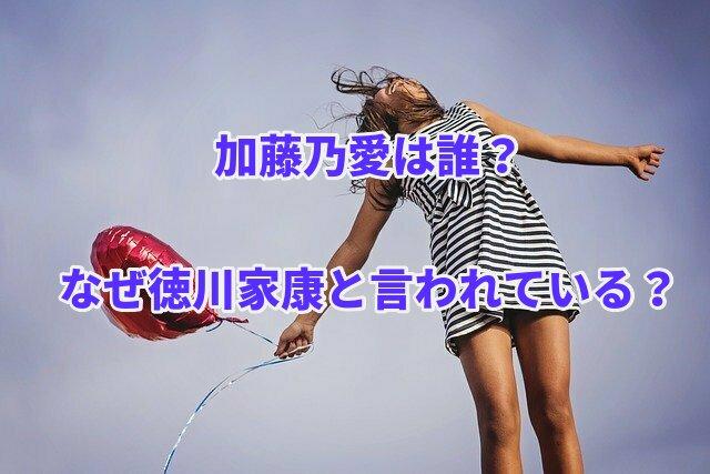 加藤乃愛は誰?なぜ徳川家康と言われている?